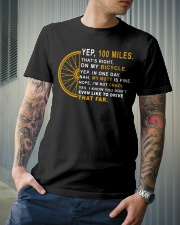 100 miles a day Classic T-Shirt lifestyle-mens-crewneck-front-6