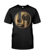 Yin Yang guitar design - gift for guitar lover Classic T-Shirt front