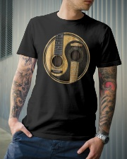 Yin Yang guitar design - gift for guitar lover Classic T-Shirt lifestyle-mens-crewneck-front-6