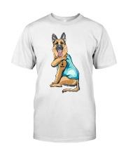 For German Shepherd Mom - I Love Mom Classic T-Shirt front