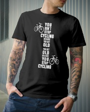 You get old because you stop cycling Classic T-Shirt lifestyle-mens-crewneck-front-6