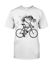 Cycling skeleton - cycling till die Classic T-Shirt front
