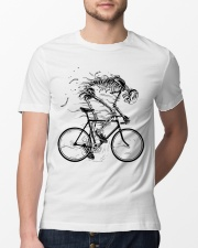 Cycling skeleton - cycling till die Classic T-Shirt lifestyle-mens-crewneck-front-13