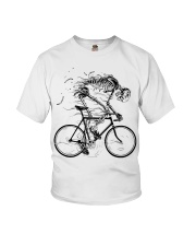 Cycling skeleton - cycling till die Youth T-Shirt tile