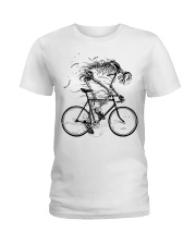 Cycling skeleton - cycling till die Ladies T-Shirt tile