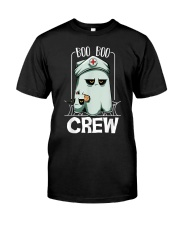 Boo Boo Crew Nurse Ghost Funny Scary Halloween Classic T-Shirt front