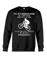 Yes He's Mountain Biking Crewneck Sweatshirt thumbnail
