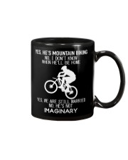 Yes He's Mountain Biking Mug thumbnail