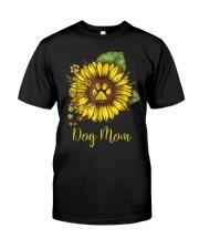 Dog Mom - Sunflower Design Classic T-Shirt front