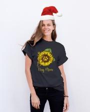 Dog Mom - Sunflower Design Classic T-Shirt lifestyle-holiday-crewneck-front-1