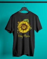 Dog Mom - Sunflower Design Classic T-Shirt lifestyle-mens-crewneck-front-3