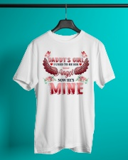 Daddy's Girl I Used To Be His Angel Now He's Mine Classic T-Shirt lifestyle-mens-crewneck-front-3