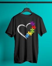 Love Ribbon Heart Autism Classic T-Shirt lifestyle-mens-crewneck-front-3