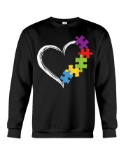 Love Ribbon Heart Autism Crewneck Sweatshirt thumbnail