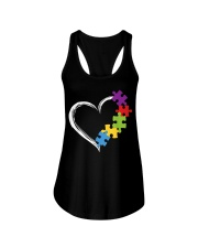 Love Ribbon Heart Autism Ladies Flowy Tank thumbnail