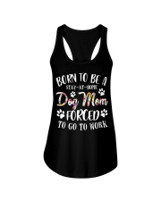 Born To Be A Stay-at-home Dog Mom Ladies Flowy Tank thumbnail