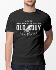 Never Underestimate An Old Guy On A Bicycle Classic T-Shirt lifestyle-mens-crewneck-front-13
