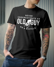 Never Underestimate An Old Guy On A Bicycle Classic T-Shirt lifestyle-mens-crewneck-front-6