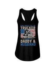 Truck Driver Gift Trucker Daddy Husband Ladies Flowy Tank thumbnail