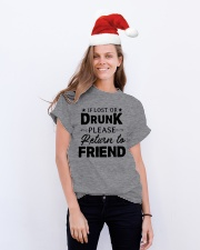IF LOST OR DRUNK Classic T-Shirt lifestyle-holiday-crewneck-front-1
