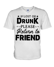 IF LOST OR DRUNK V-Neck T-Shirt thumbnail