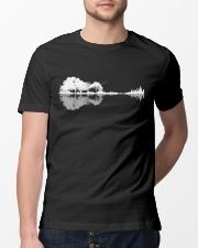 Guitar trees shadow design Classic T-Shirt lifestyle-mens-crewneck-front-13