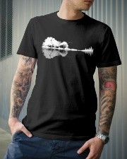 Guitar trees shadow design Classic T-Shirt lifestyle-mens-crewneck-front-6