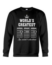 Worlds greatest DAD guitar chords secret message Crewneck Sweatshirt thumbnail