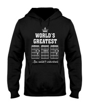 Worlds greatest DAD guitar chords secret message Hooded Sweatshirt thumbnail