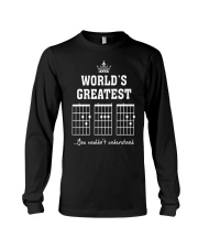 Worlds greatest DAD guitar chords secret message Long Sleeve Tee thumbnail