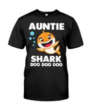 Auntie Shark Doo Doo Doo Classic T-Shirt front