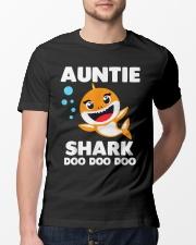 Auntie Shark Doo Doo Doo Classic T-Shirt lifestyle-mens-crewneck-front-13