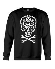 Cycling Skull Crewneck Sweatshirt thumbnail