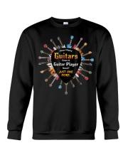 How many guitars does a guitar player need Crewneck Sweatshirt thumbnail