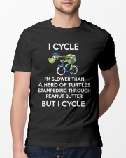 I cycle slower than turtles but i cycle Classic T-Shirt lifestyle-mens-crewneck-front-13