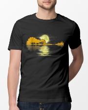 Guitar moon lake shadow beautiful design Classic T-Shirt lifestyle-mens-crewneck-front-13