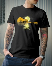 Guitar moon lake shadow beautiful design Classic T-Shirt lifestyle-mens-crewneck-front-6