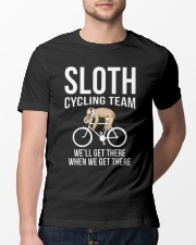 Sloth cycling team Classic T-Shirt lifestyle-mens-crewneck-front-13