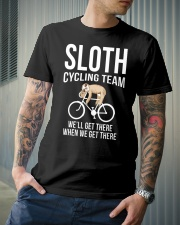 Sloth cycling team Classic T-Shirt lifestyle-mens-crewneck-front-6