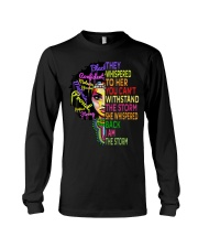 I Am The Storm Strong African Woman Long Sleeve Tee thumbnail
