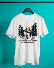 Keep your soul clean and your boót dirty Classic T-Shirt lifestyle-mens-crewneck-front-3