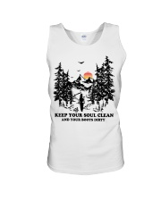 Keep your soul clean and your boót dirty Unisex Tank thumbnail