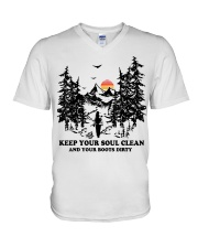Keep your soul clean and your boót dirty V-Neck T-Shirt thumbnail