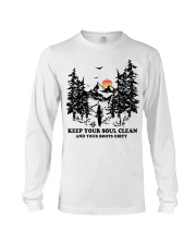 Keep your soul clean and your boót dirty Long Sleeve Tee thumbnail