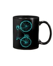 Blue bicycle design Mug thumbnail