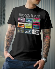 Old school playist Classic T-Shirt lifestyle-mens-crewneck-front-6