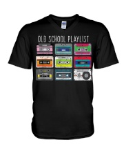 Old school playist V-Neck T-Shirt thumbnail