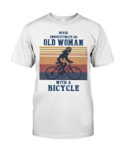An Old Woman With A Bicycle Classic T-Shirt front
