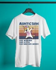 Aunticorn Vintage Shirt Classic T-Shirt lifestyle-mens-crewneck-front-3