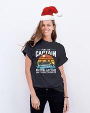 Pontoon Captain Classic T-Shirt lifestyle-holiday-crewneck-front-1